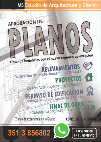 planos municipales, relevamiento, proyecto, final de obra