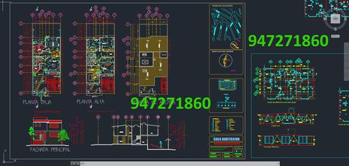 planos para casas proyecto ingenieria