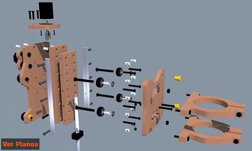 planos para construir torno cnc profesional 3 ejes