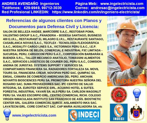 planos para defensa civil licencia de funcionamiento, indeci