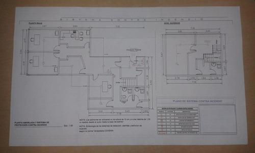 planos para permisos: bomberos, conformidad de uso, sanidad