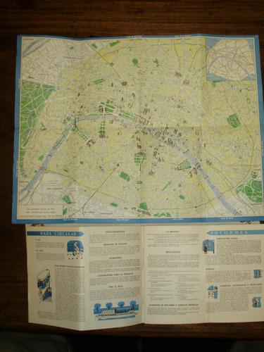 planos paris lugares recorridos museos guia 1955 español