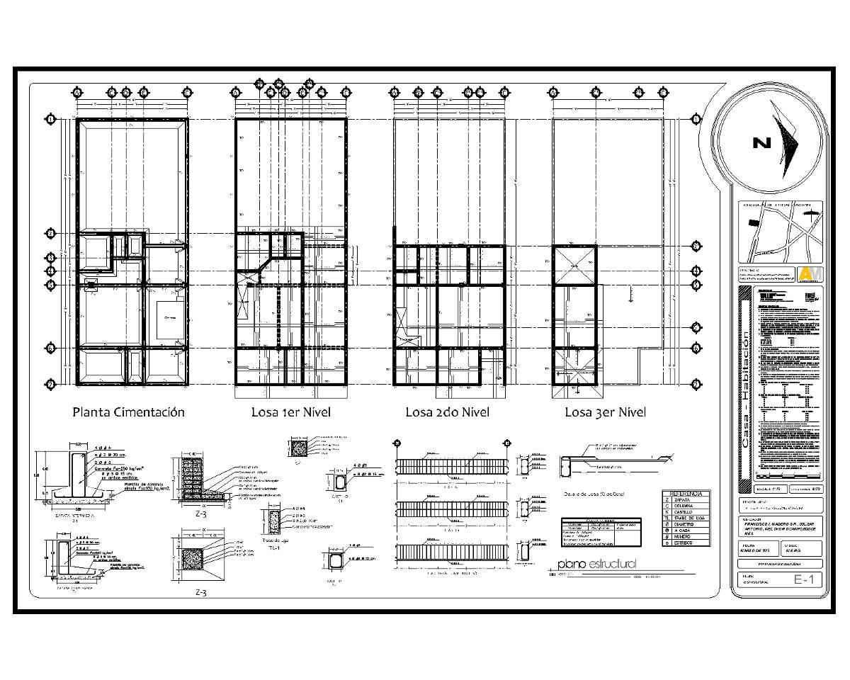 planos proyecto arquitect nico instalaciones estructural
