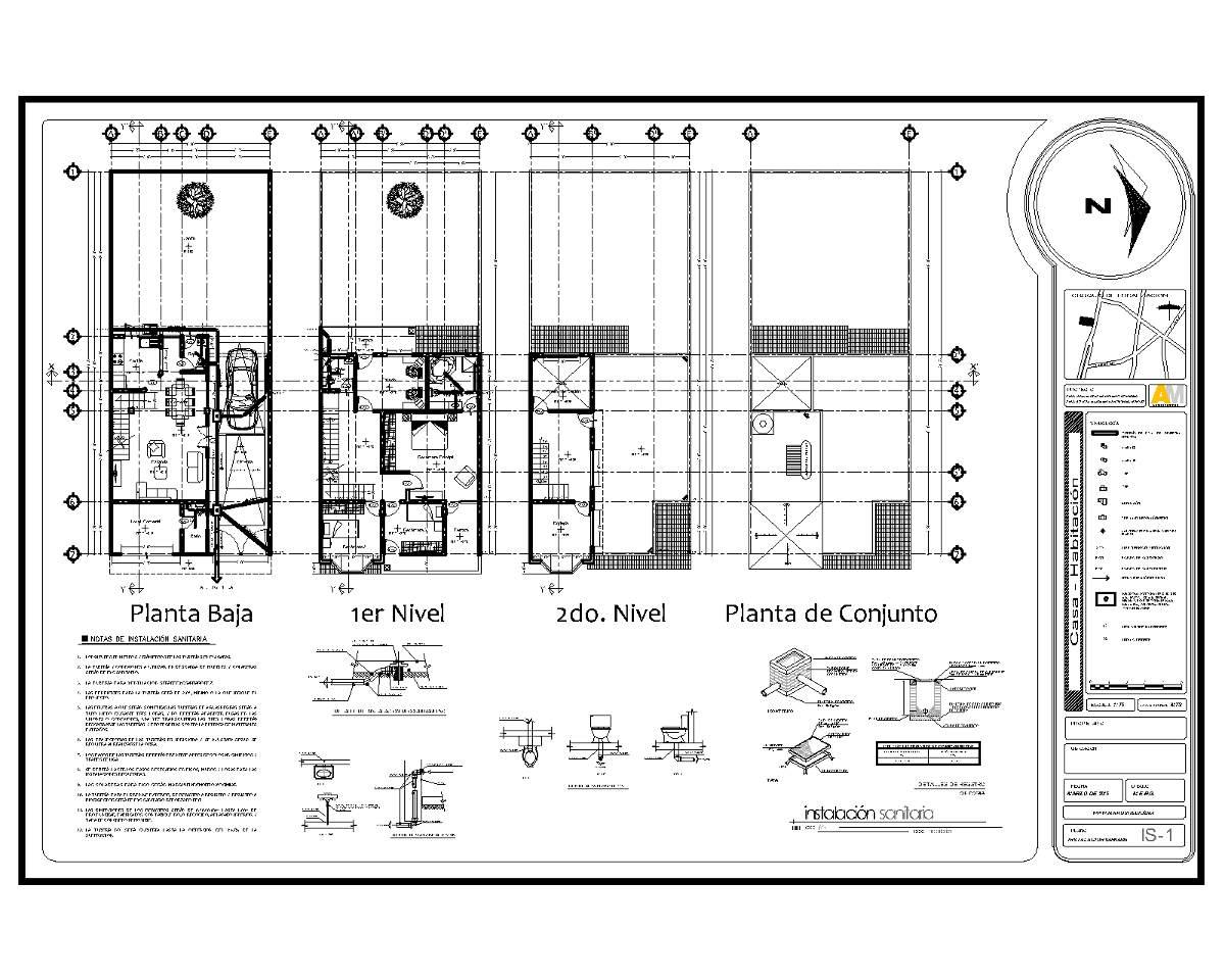 Planos proyecto arquitect nico instalaciones estructural for Planos de arquitectura pdf