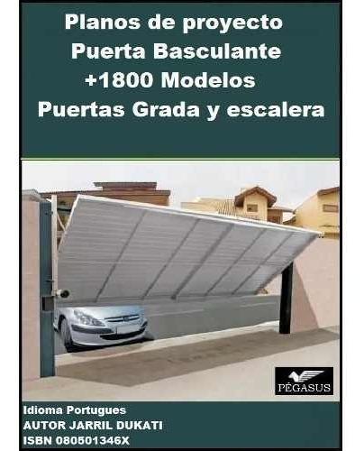 planos puerta basculante porton cochera + 1800 kit diseños..