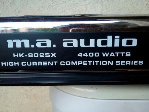 planta 4400w 2 canales ma audio hk-802sx..