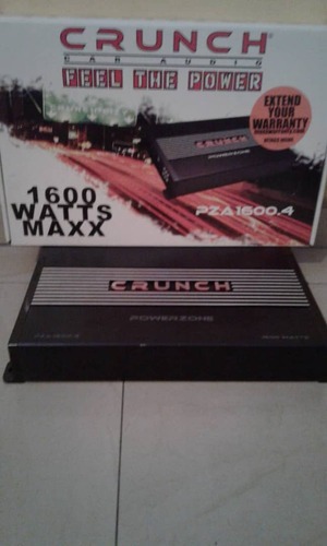 planta / amplificador crunch 4 canales pza1600.4 como nueva