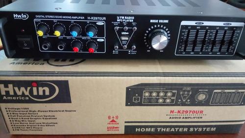 planta amplificador de audio sonido hwin entrada usb