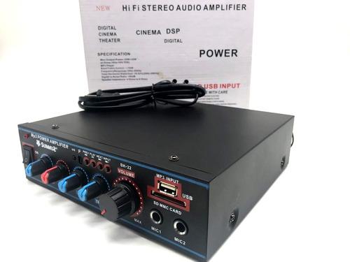planta amplificador de sonido para casa usb sd aux mic nuevo