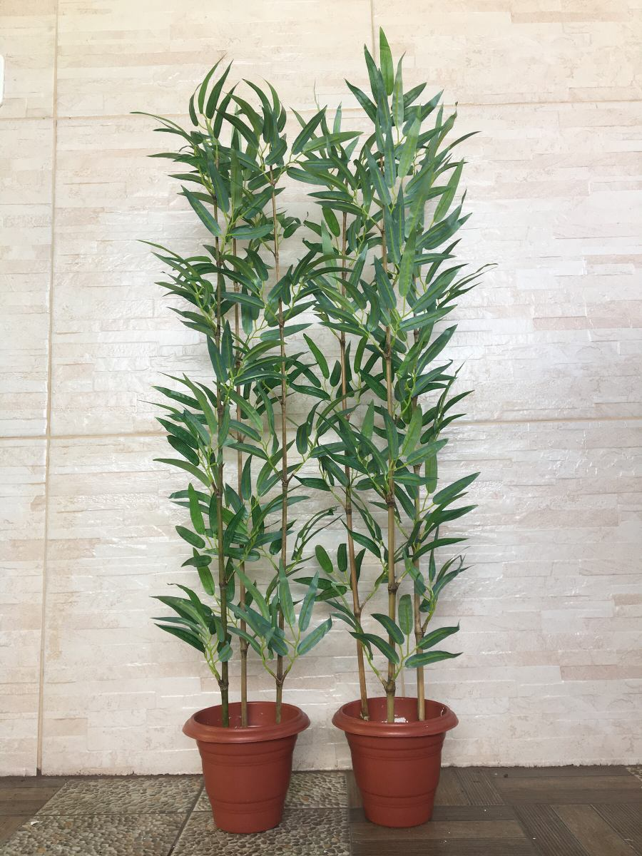 Planta arfificial bambu reto kit 2 plantas 100cm decoracao for Bambu pianta