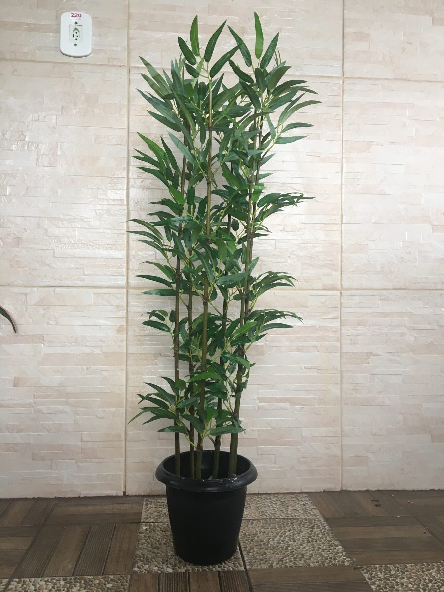 Planta artificial bambu reto 100cm com 6 hastes decoracao for Bambu pianta