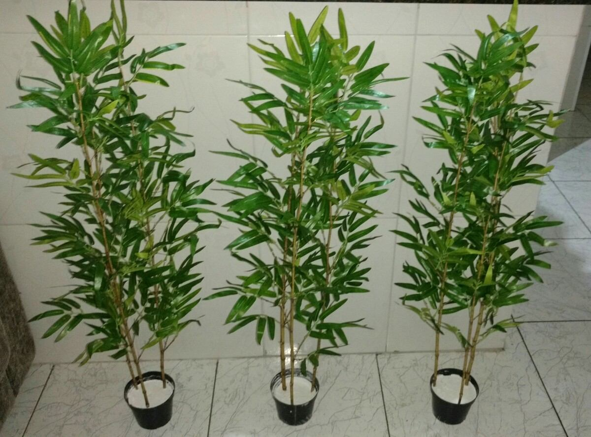 Planta artificial bambu reto aurea 100cm decora o - Planta artificial ...