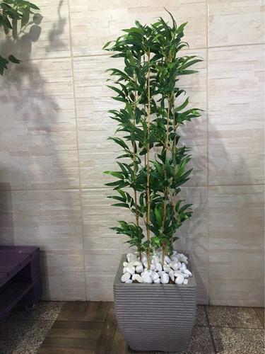 planta artificial c/ cachepô 30cm decoração lar  casa flor