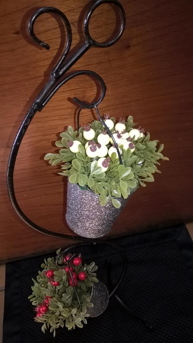 Planta Artificial Con Armoazon Con Flores Rojas O Blancas 400