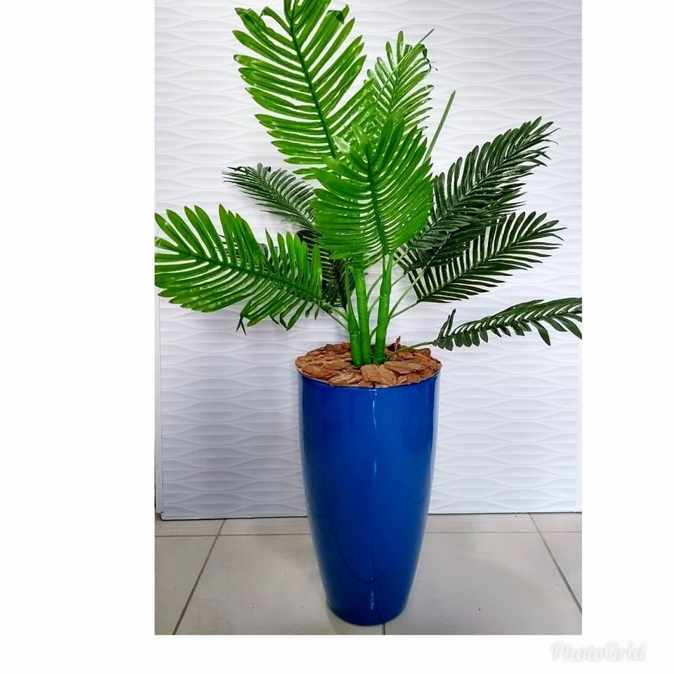 Planta artificial coqueiro palmeira verde com 1 metro s - Planta artificial ...