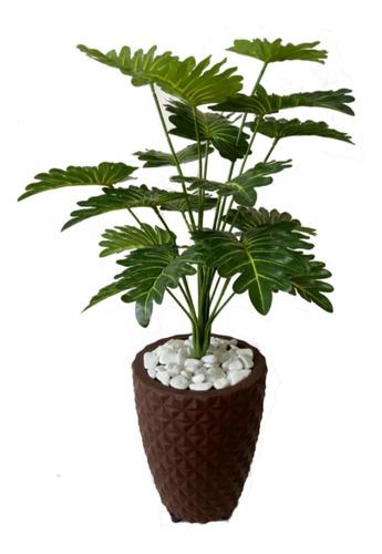 planta artificial decoração enfeite + vaso 3d  oferta