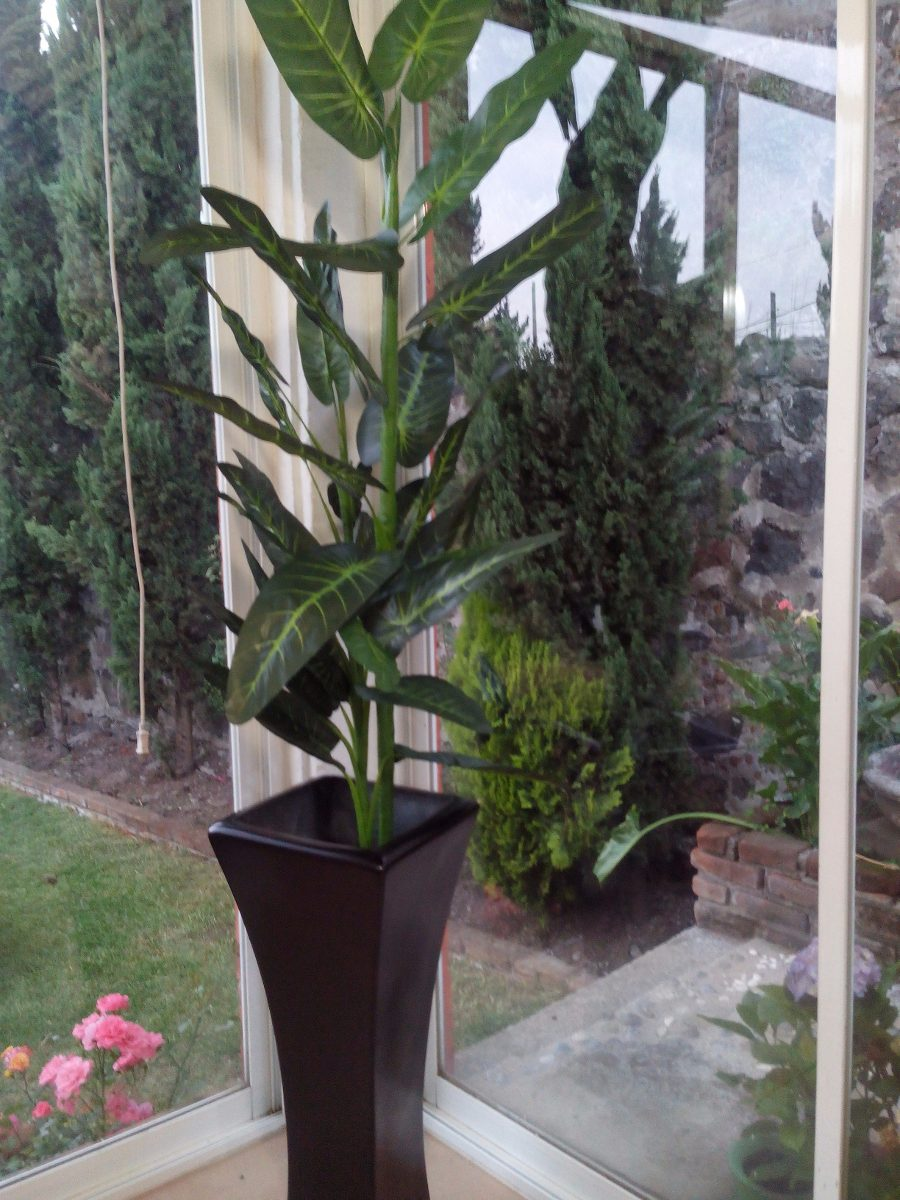 Planta Artificial Hoja Grande 3 En Mercado Libre