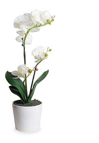 planta artificial orquidea blanca ó rosa, con maceta