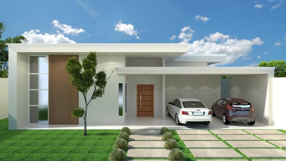 Planta baixa layout 240m casa 3q uma su te garagem p015 for Casa moderna 99 arena