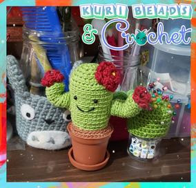 Cactus nopal con flores amigurumi   Cactus amigurumi, Cactus a crochet   272x284