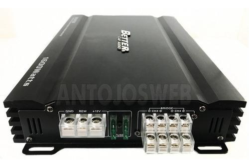 planta carro 1600w better bt 4750 4canales amplificador