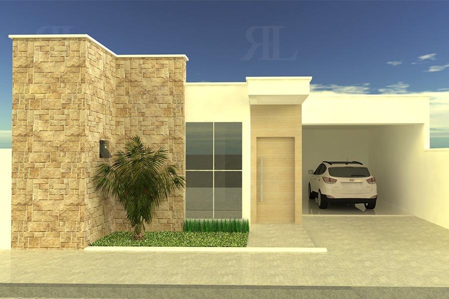Planta casa moderna 3 quartos r 893 00 em mercado livre for Casa moderna numero 2