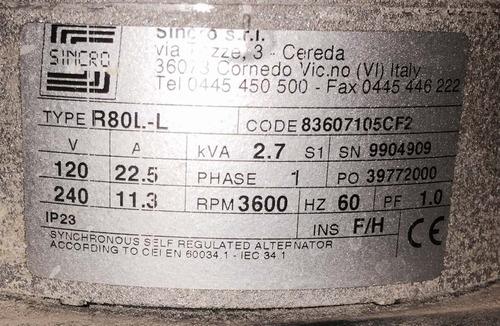 planta de luz 2500 wat