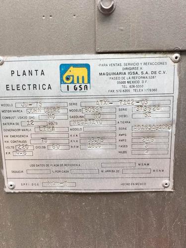 planta de luz de 75 kw perkins stamford