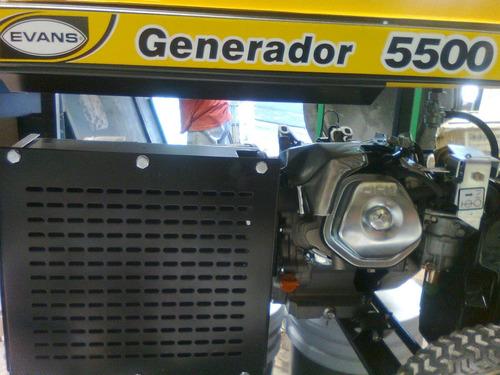 planta de luz evans 5500 w 10 hp generador  -  g55mg1000thw