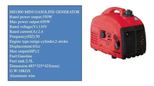 planta de luz gasolina 550w/650wmax 110v
