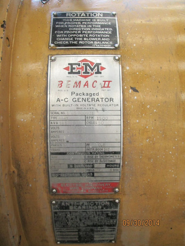 planta de luz generador electricidad 160 kw selmec / 639