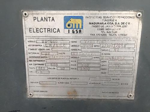 planta de luz  igsa 600 kw detroit 12v92 biturbo