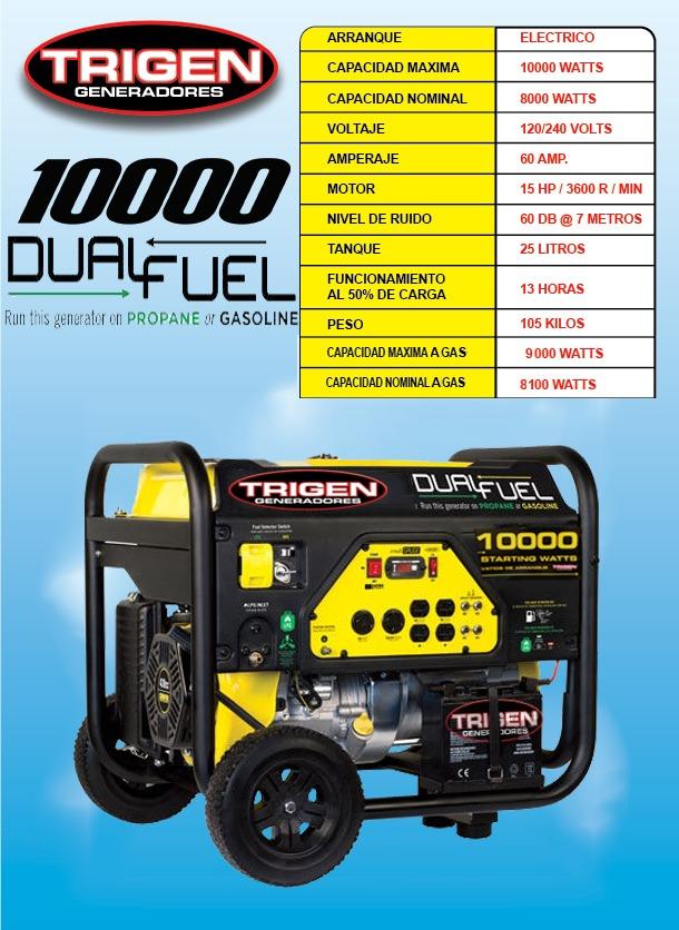 Planta de luz o generador 10000 w a gas o gasolina trigen - Generador electrico a gas butano ...