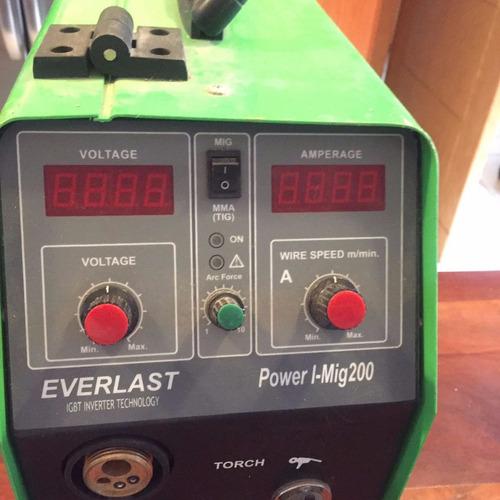planta de soldar soldadora everlast 200 amp mig microalambre