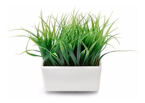 planta decorativa artificial cesped