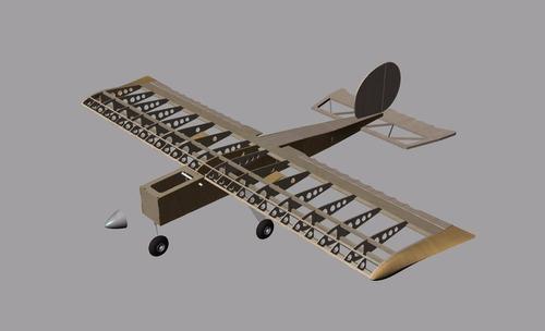 planta do aeromodelo ugly stick 46 - corte a laser