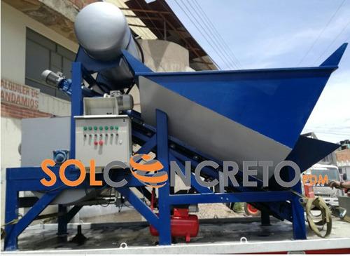 planta dosificadora y premezcladora para producir concreto