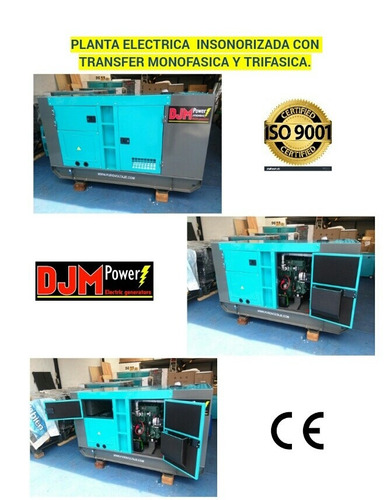 planta electrica 38kw 38 kva diesel insonorizada monofasica