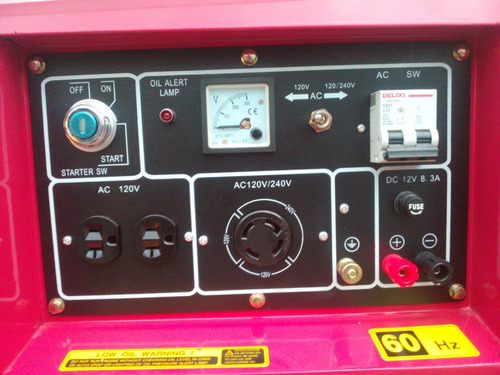 planta electrica 6.5kva diesel silenciosa bifasica portatil