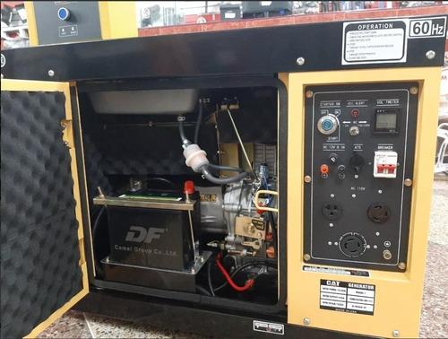 planta eléctrica caterpillar diesel 12.5 kva + transfer ats