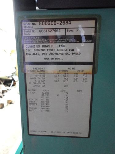 planta electrica cummins 62.5 kva