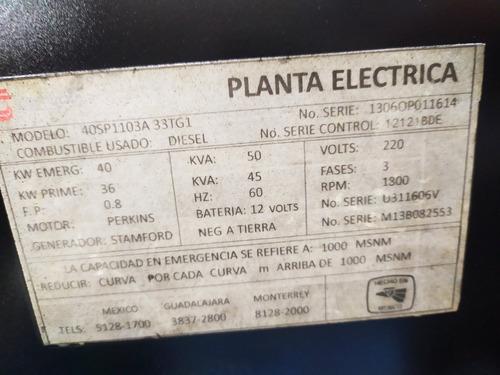 planta eléctrica diesel perkins de 50 kva
