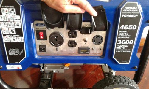 planta electrica ford 110-220v/4.7 kva/4.650w,50 amps.11 hrs