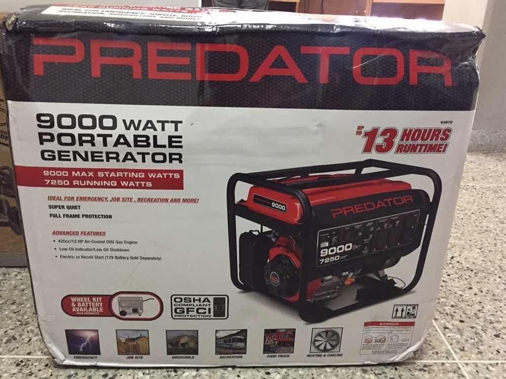 Planta Eléctrica Predator 9000/7250 Watts Generator 13 Hp