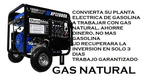 planta  eléctrica  se convierte de  gasolina a gas natural