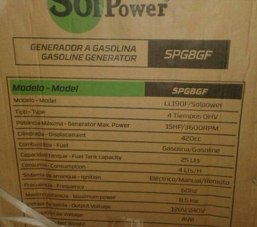 planta electrica solpower