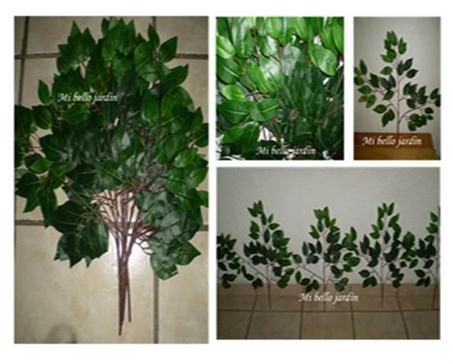 Planta jardinera con flores artificiales vbf en - Jardineras con plantas ...