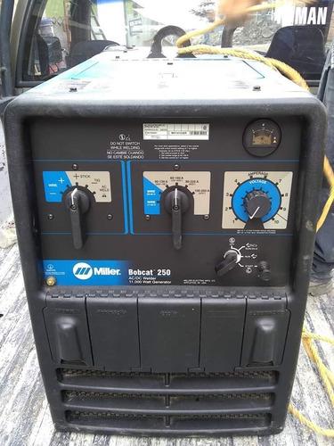 planta máquina de soldar miller motor a gasolina bobcat