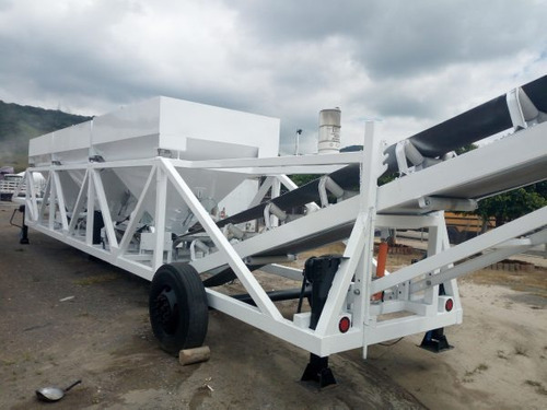 planta movil para concreto br-3100 de 3 tolvas 72 mts3/hra