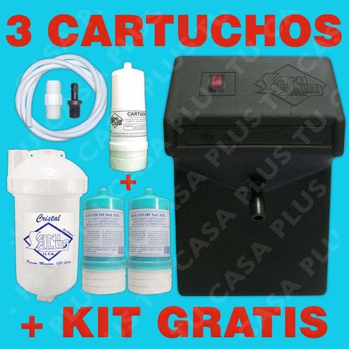 planta ozono ng + filtro agua + kit+ 3 cartuchos g r a t i s